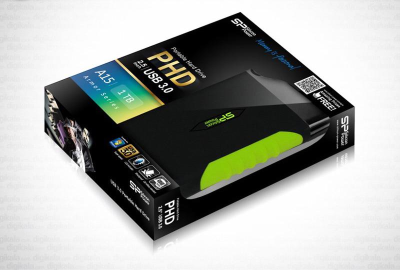 هارددیسک اکسترنال Silicon Power مدل آرمور A15 ظرفیت 1 ترابایت
